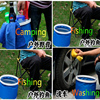 Car Style 9L Portable Folding Car Wash Buckets 27 5 24cm Folding Car Wash Pail Vehicle