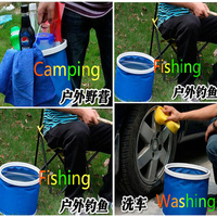 Car Style 9L Portable Folding Car Wash Buckets 27 5 24cm Folding Car Wash Pail Vehicle