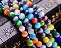 AAA Natural Stone Chatoyant Cat's eye Stone cymophane beads Round Loose bead Opals glass ball  Jewelry bracelet Making