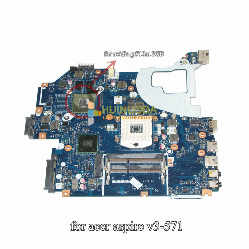 Original laptop motherboard for ACER Aspire E1-571G V3-571G V3-571 NBM6B11001 Q5WV1 LA-7912P GT710M 2G HM77 PGA989 DDR3 WORKS original for acer aspire v3 551 motherboard la 8331p nbc1911001 100