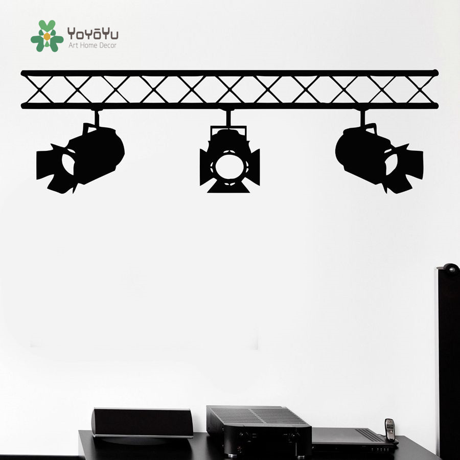 YOYOYU Wall Decal Vinyl Wall Sticker Removeable Spotlights Cinematography/Film Studio Company Home Decor Sticker YO176 image
