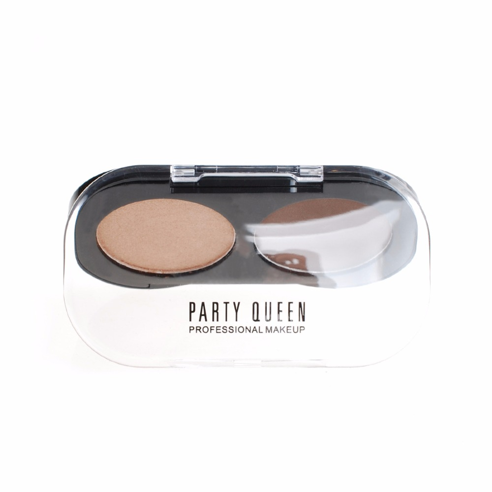 10PCS LOT Party Queen Satin Matte 2 Colors Eyeshadow Naked Pigment Makeup Shimmery Burgundy Earth Color Smokey Eye Shadow in Eye Shadow from Beauty Health