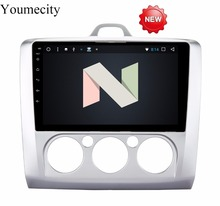Youmecity Android 8,1 2 DIN 9′ Восьмиядерный автомобильный dvd-Video gps Navi для Ford focus 2006-2011 емкостный экран 1024*600 RDS + wifi + BT