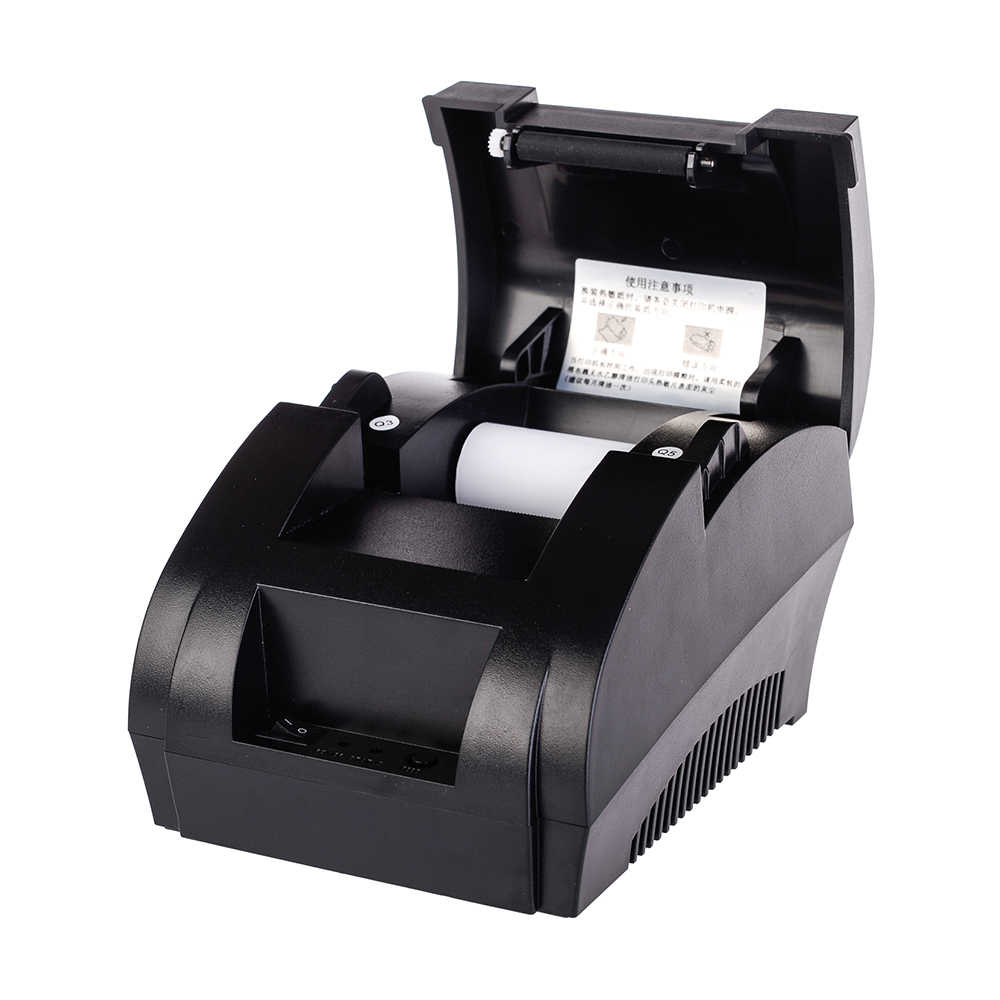 Impresora térmica con recepción por Bluetooth de 58mm para Android iOS, soporte para Windows, sistema POS, cajón de efectivo
