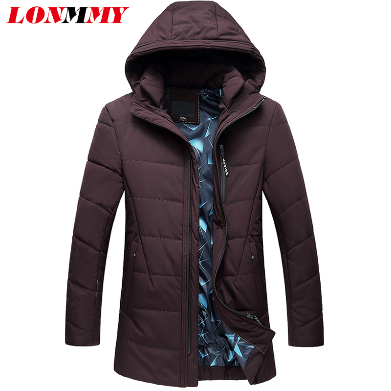 LONMMY 6XL 7XL Long style jackets mens parka jacket men coats black hoodies thickening Causal parka men clothing 2017 winter