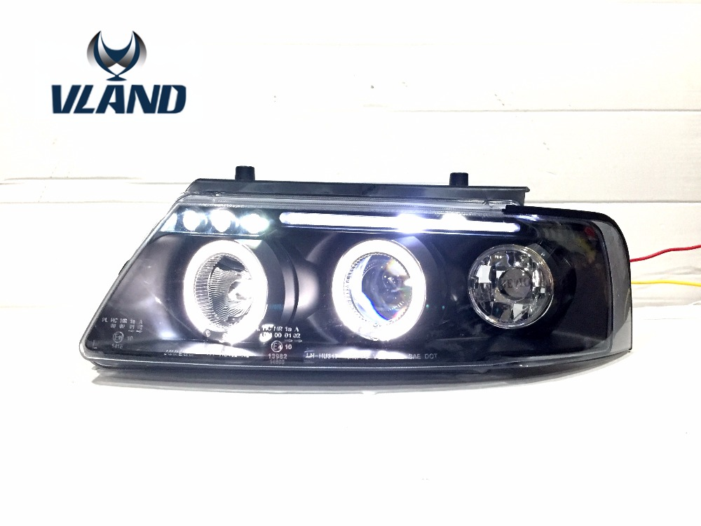 VLAND manufacturer for car head lamp for Passat B5 1997 1998 1999 2000 LED headlight with angel eyes HID xenon headlamp