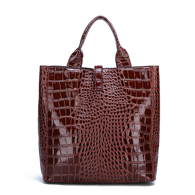 3pcs Black Red Patent Leather Tote Bags For Women Handbags Set Luxury Designer Brand Shoulder Crossbody Women Bag+Clutch Purse