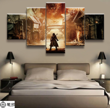 5 Panel The Lord of the Rings Hobbit Poster Canvas Printed Painting For Living Room Wall Art Decor HD Picture Artworks Poster the art of the hobbit