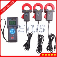 ETCR8300 True RMS online monitoring digital ammeter with Three Channel AC Leakage Current Meter 3900 sets recorder