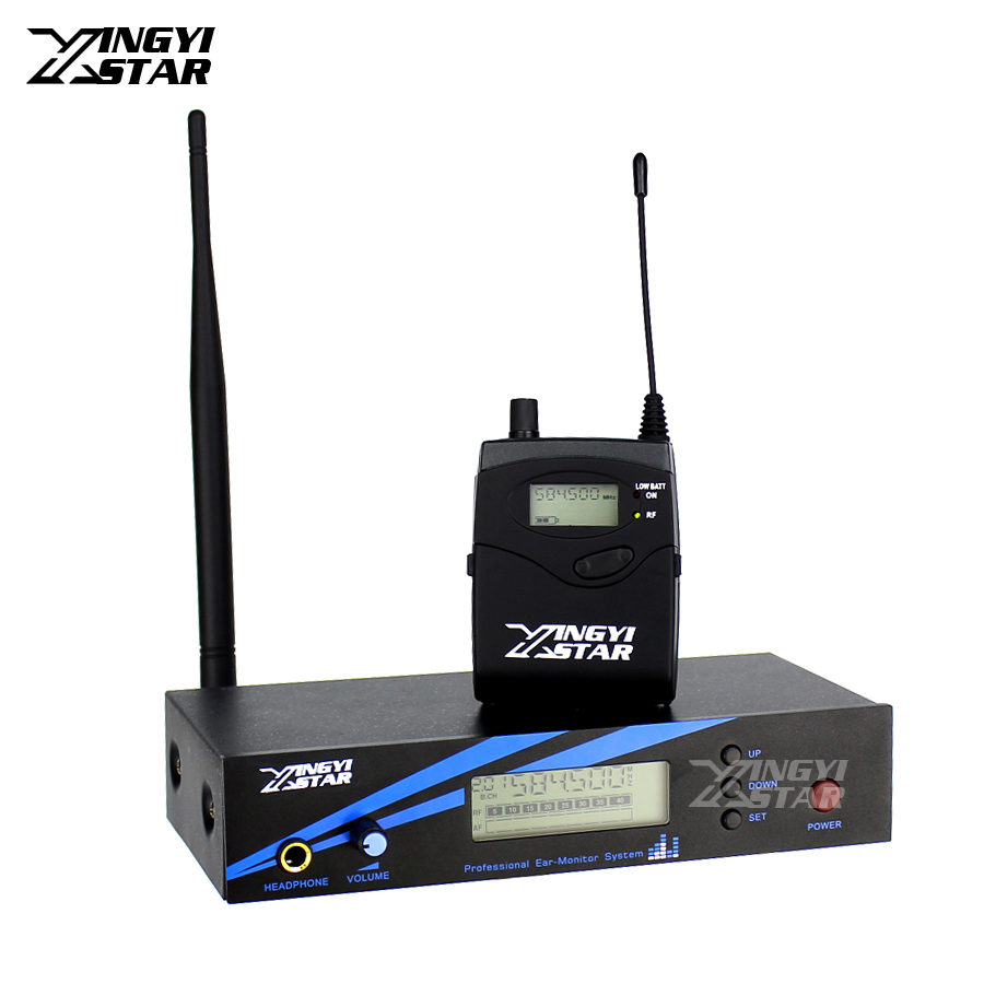 EW300 IEM G2 UHF Wireless In Ear Monitor System Professional Stage Monitoring Cordless Bodypack Receiver Transmitter in Earphone ew300 iemg3 in ear monitor wireless system with usb function quality ew100 iem g3 g3 iem ek 300 monitoring with in earphone