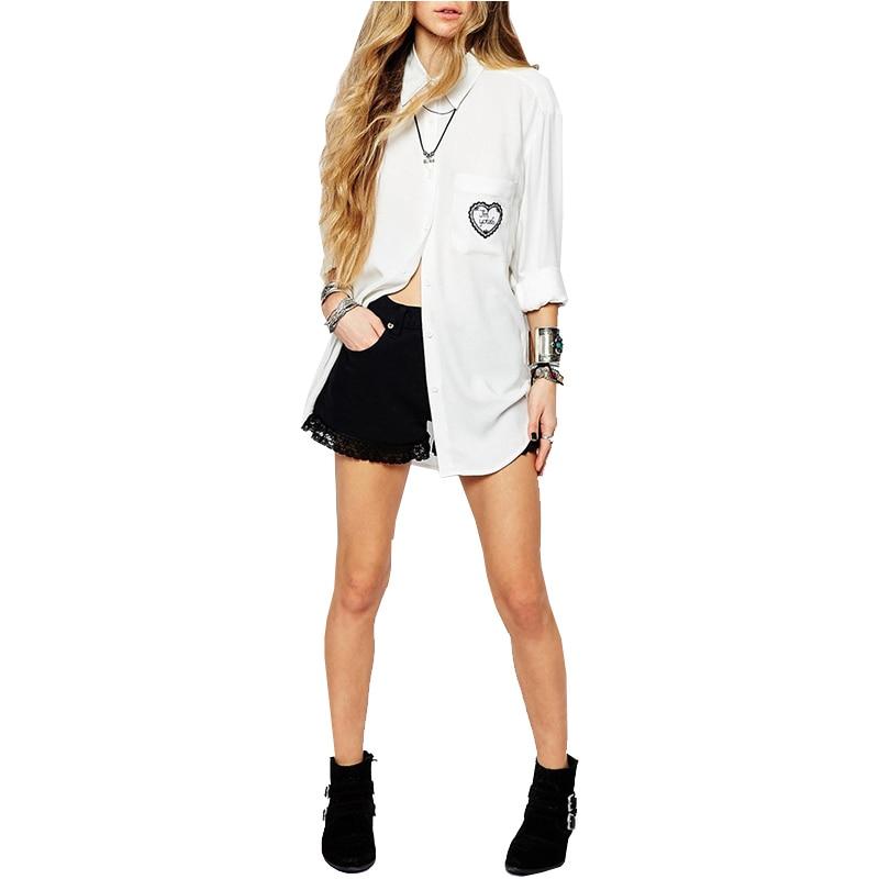 Liva Girl 2019 100% algodón Casual Ropa de mujer Otoño Camisas de - Ropa de mujer