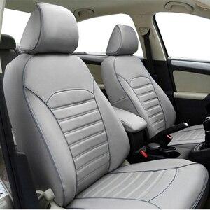 Image 5 - Carnong غطاء مقعد السيارة الجلود مخصص صالح لل مقعد السيارة الأصلي نفس الهيكل مغطاة بالكامل حامي غطاء مقعد السيارات