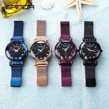 watches waterproof women fashion magnet watch 2019 galaxy starry sky designer brand luxury stainless steel wrist