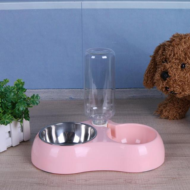 Multifunction Pet Bowl Dog Feeder Dogs Automatic Water Bottles Puppy Dog Cat Bowl Pet Water Drinker Dispenser Bowl