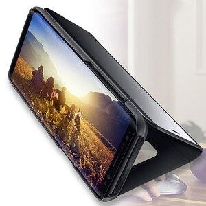 Image 4 - FDCWTS Flip Caso Capa De Couro Para Samsung Galaxy A3 2017 A5 2017 A7 2017 A320F A520F A720F Luxo Visão Clara tampa da Caixa do telefone