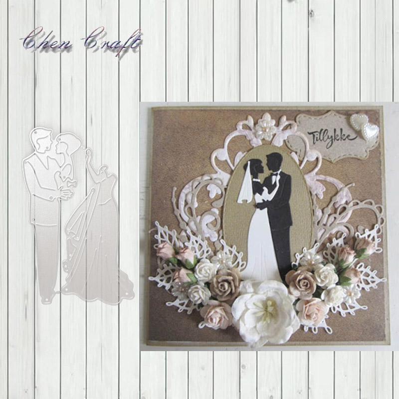 "Romantic Lovers Metal Cutting Dies For Scrapbooking DIY Album Paper Cards Decor"""