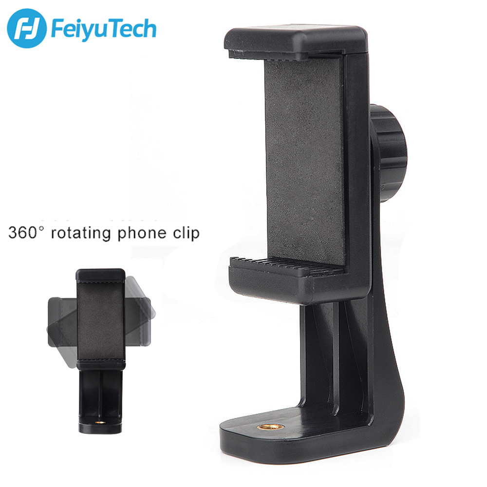 Feiyutech Mobile Phone Bracket Supported 360 Degree Rotation Horizontal and Vertical Adjustment for Feiyutech G6 Plus GimbalFeiyutech Mobile Phone Bracket Supported 360 Degree Rotation Horizontal and Vertical Adjustment for Feiyutech G6 Plus Gimbal