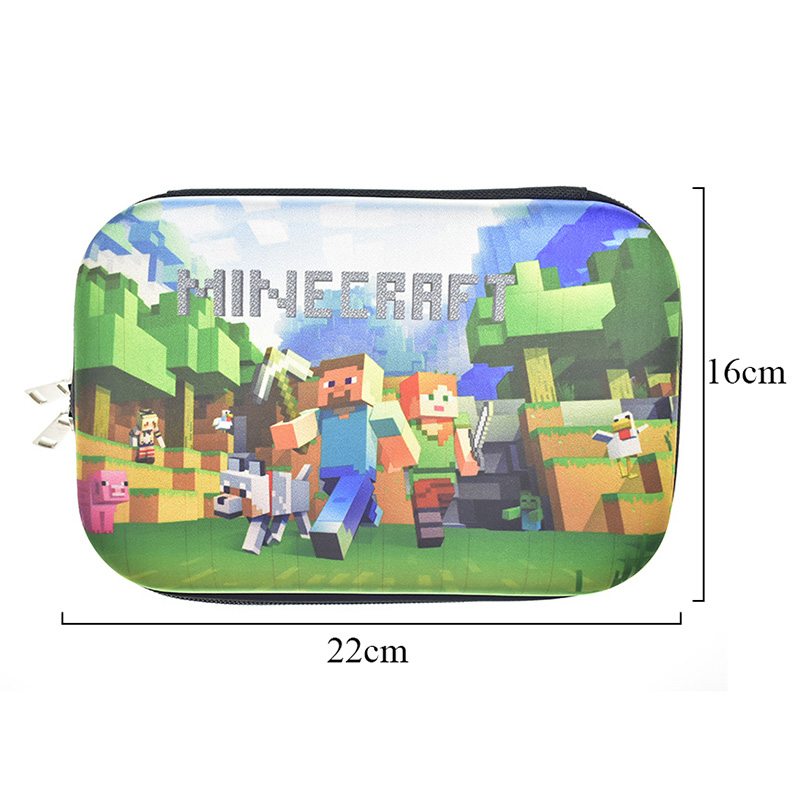 Minecraft Pencil Case For Kids Boys Gift Creative Pencil Pen Bag Large Capacity EVA Materials Office School Supplies Stationery school pencil case bag for girls boys pencil bag large polyester cloth 3 styles stationery products office school supplies gift