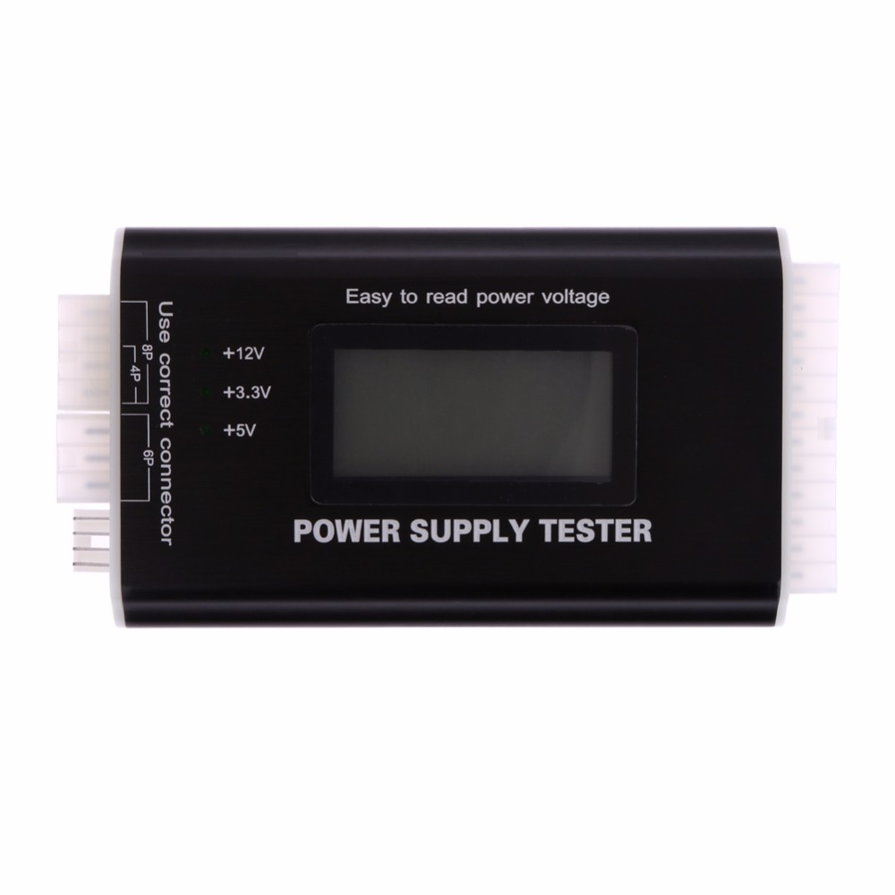 Digital LCD Computer PC Power Supply Tester Checker 20/24 pin SATA HDD ATX BTX Meter High Quality стоимость