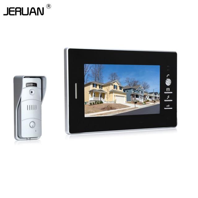 JERUAN NEW 7 inch LCD TFT Color Video door phone Intercom system 700TVL camera outdoor with waterproof camera IR Night