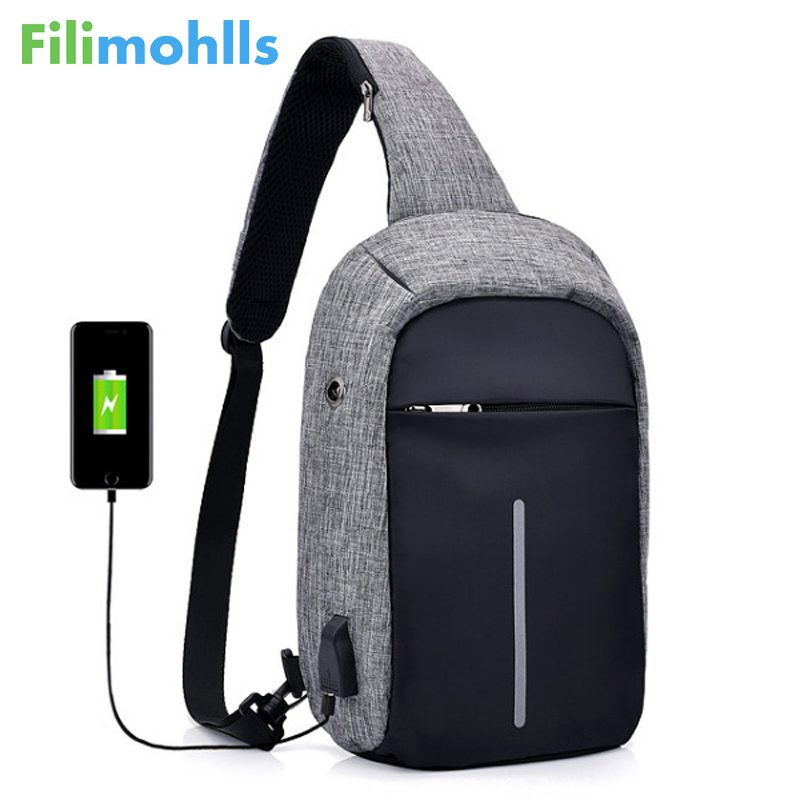 2018 Hot Sale USB Sling Bag for Men Women Chest Bag Large Capacity Waterproof Summer Short Trip Messengers Crossbody Bags S1351 стул coleman summer sling 205147