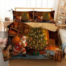 3D Christmas Bedding Set