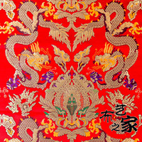 Width 0 75n Length 1m Imitate Silk Woven Brocade Fabric For Tradition Wedding Suit Cloth And