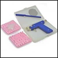 Kit de herramienta de pistola profesional de perforación de nariz y cuerpo de acero azul seguro sin dolor Kit de 98 Uds herramientas de joyería