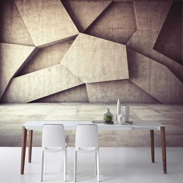 Foto behang 3D cubes geometrische muur behang gang badkamer custom ...