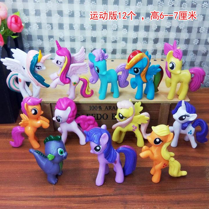 12pcs/set M y Little Pony Toys Mini Pony PVC Action Figures Set Rainbow Dash Twilight Sparkle Apple Jack Spike the Dragon Dolls sonny angel mini pvc figures animal series version 4 baby toys dolls 12pcs set 8cm dsfg352