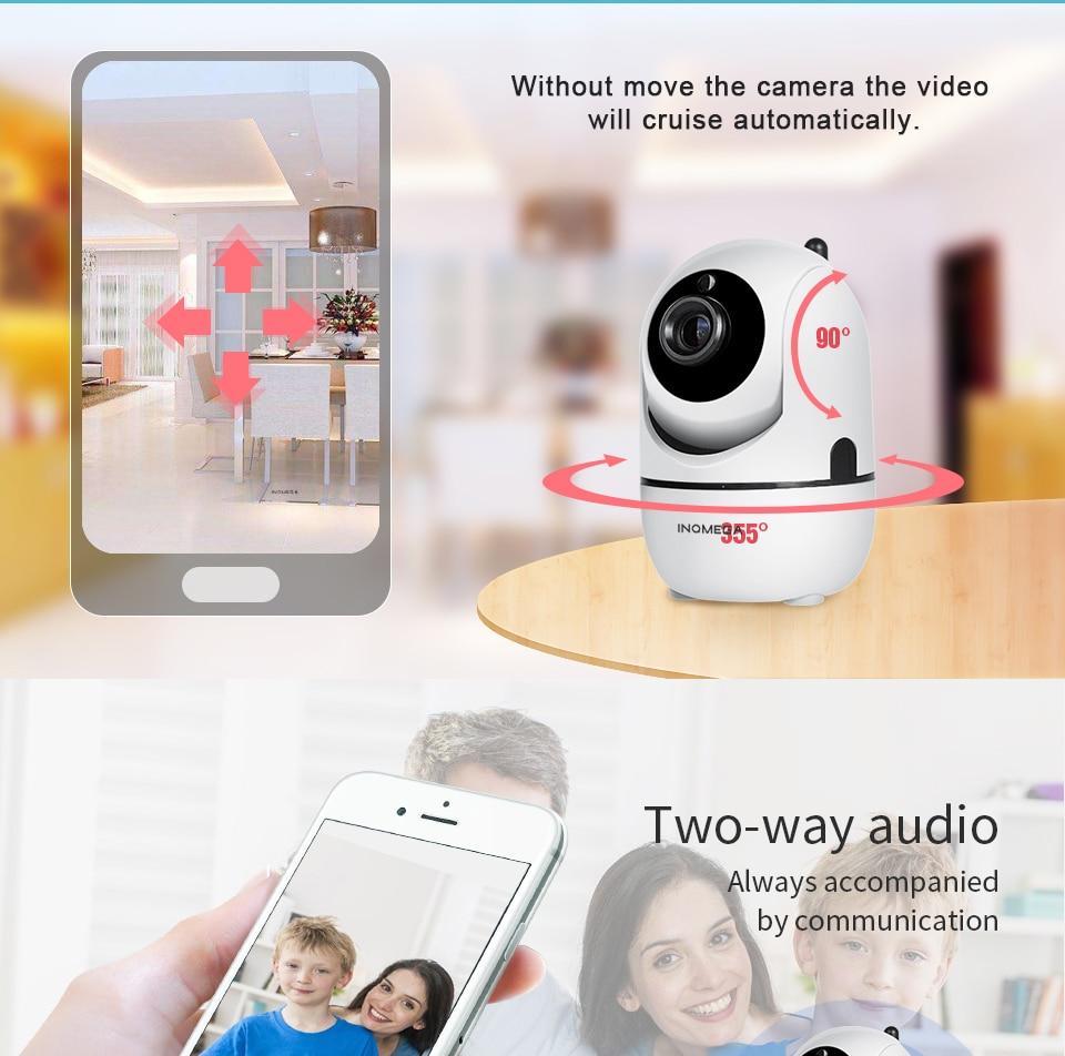 HTB1.6gzir5YBuNjSspoq6zeNFXaC INQMEGA 1080P Cloud Wireless IP Camera Intelligent Auto Tracking Of Human Home Security Surveillance CCTV Network Mini Wifi Cam