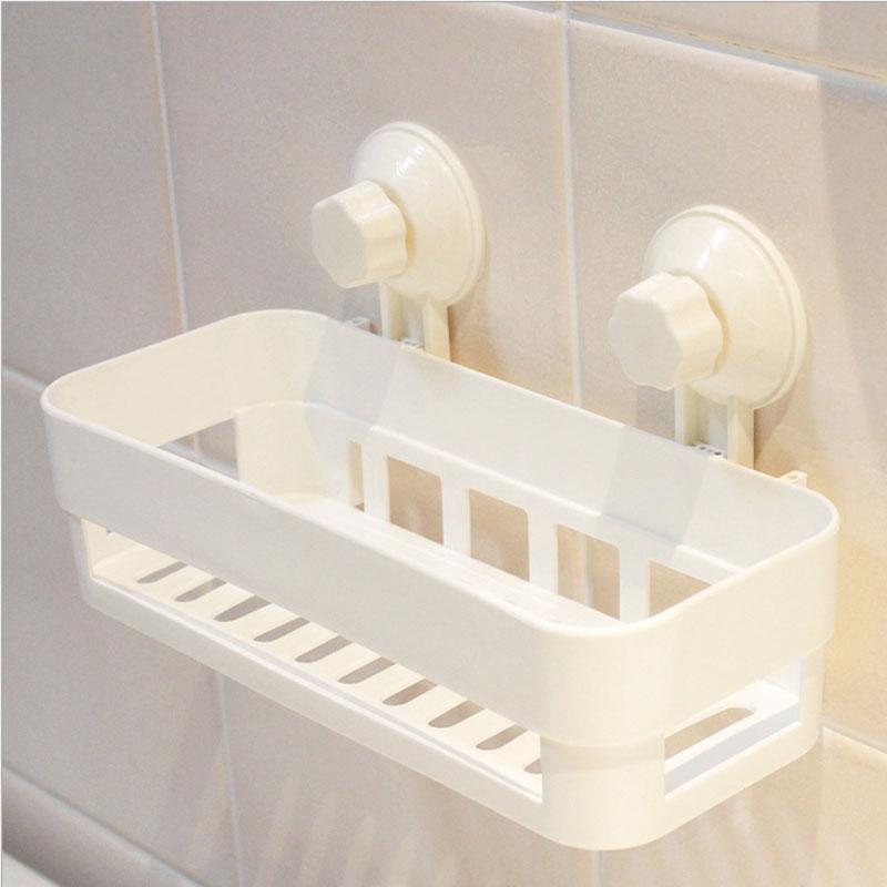 Bathroom:  Multipurpose Kitchen Bathroom Products Storage Holder Bathroom Double Sucker Shelf Bathroom Shelve - Martin's & Co