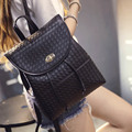 In 2016, the new student backpack bag lock water travel leisure fashion women bag leather PU fabric black gold silver white