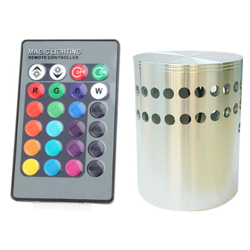 En vente! 10 pièces mur LED lumière 3 W RGB AC85-265V 110 V 220 V coque en aluminium + 24 touches télécommande moderne applique pour KTV/Bar