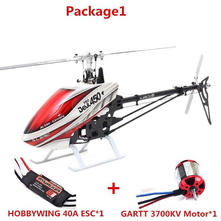 ALZRC-450 Hélicoptère Diable 450 Pro V2 FBL KIT-Argent