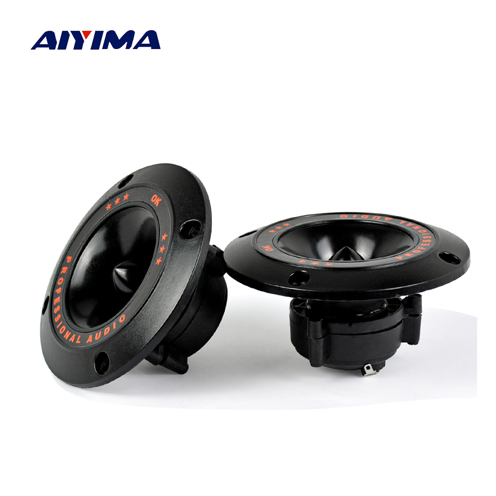 AIYIMA 2Pcs 4Inch Piezo Tweeter Ceramics Piezoelectric Speaker Horn 50W Treble Ceramic Piezo Buzzer For Car Home Subwoofer Diy old school motorcycle gauges