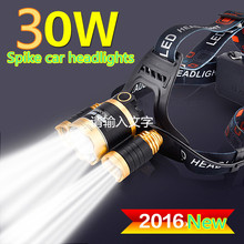 Rechargeable Headlight Led Headlamp Waterproof 3 LED/CREE-T6 3000LM Head Lamp Light +US/UK/EU  Charger+USB charge+car charge