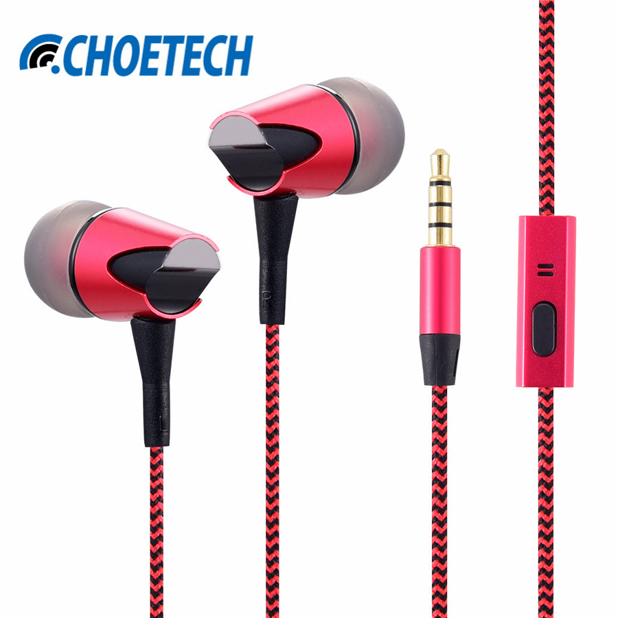 Wired Bass Earphones(Braided) HIFI Music Earphone fone de ouvido EAR Phone Microphone for iPhone for Xiaomi for Samsung for OPPO doosl metal earphone noise isolating earbuds hifi music in ear wired for iphone ios android cellphones pc fone de ouvido