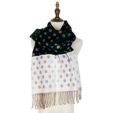 winter cashmere shawls women polka dots fashion warm womens scarf mujer capes shawl long cape wraps