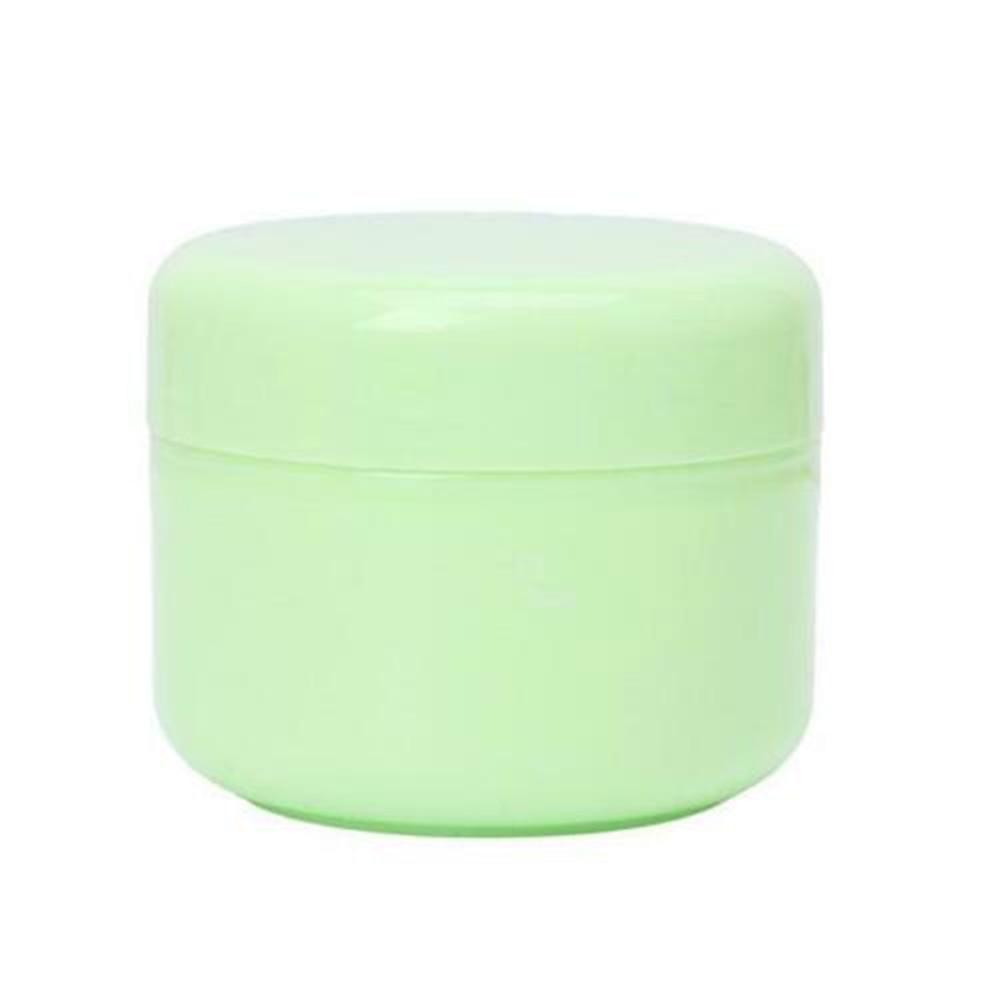 1 шт. бутылки многоразового использования Пластик пустой Макияж Jar горшок крем для лица/лосьон/контейнер для косметики 5 цветов 10/20/30/50/100/150g - Цвет: green