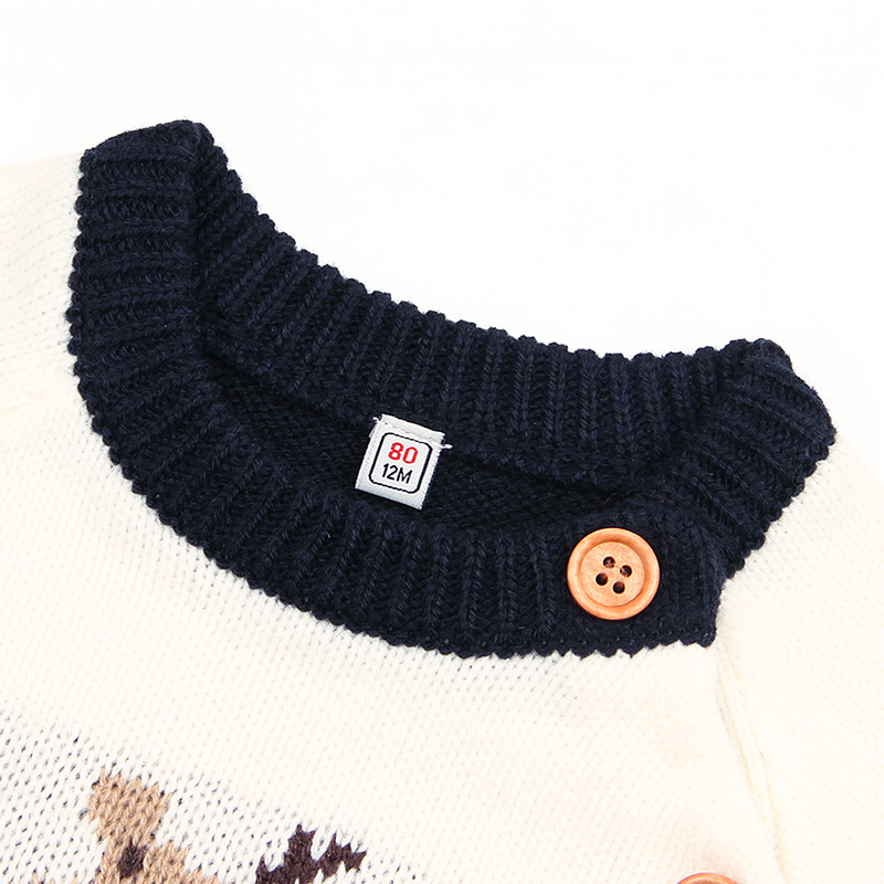 Newborn Baby Boys Sweater Pullover New Year Sweaters cartoon Girls Causal Long Sleeve Toddler Kids Jumpers Autumn Childrens
