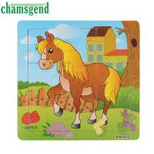 High Quality Wooden Horse Jigsaw Toys For Kids Education And Learning Puzzles Toys Intellect Puzzle Levert
