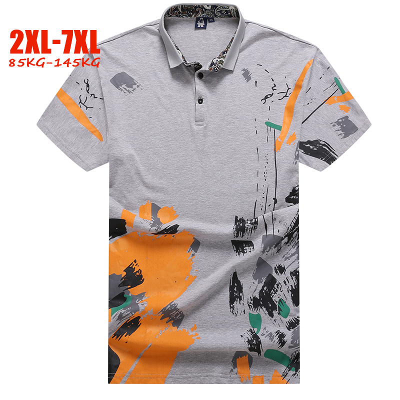 Hand-painted   polo   shirt men plus size 5XL 6XL 7XL summer mens   polo   shirts brands England style big size men   polo   shirts