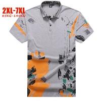 Hand painted polo shirt men plus size 5XL 6XL 7XL summer mens polo shirts brands England style big size men polo shirts