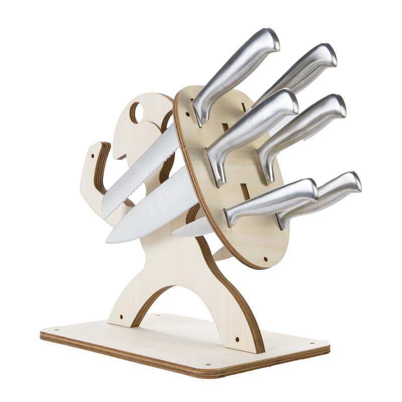 Spartan Creative  Knife Holder Eco-friendly Wooden Knife Rack Kitchen Bar Storage Knives Stand