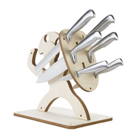 Spartan Creative Knife Holder Eco friendly Wooden Knife Rack Kitchen Bar Storage Knives Stand