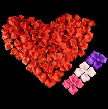 3 bags/pack Non-woven petal simulation rose petals wedding room decoration 144 pieces decorated with fake flowers