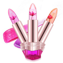 Jelly Flower Lipstick Lip Gloss Transparent Moisturizer Makeup Nonstick Cup Discoloration Lipstick Cosmetics Beauty I170