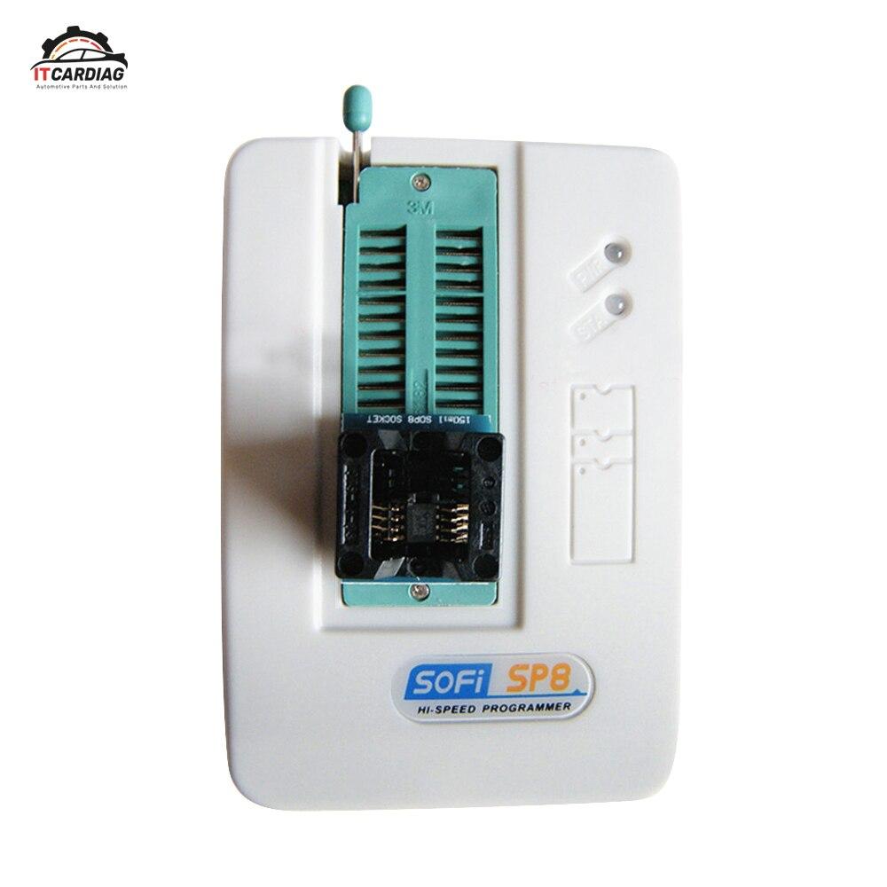 SOFI SP8-B Haute Vitesse Usb Programmateur + 4cs Adaptateur (93/24/25/BR90/Flash Eeprom), 5000 Puces Ont Également SP8-A SP8-F SP16-B