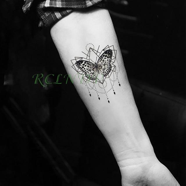 Moda Impermeable Tatuaje Temporal Pegatina Mariposa Tatuaje Tatto